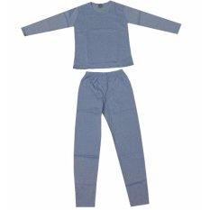 Beli Chuchu Longjohn Pakaian Musim Dingin Baju Winter Baju Hangat Baju Musim Salju Anak Biru Cicilan
