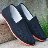 Review Chinese Style Old Beijing Slip Traditional Kung Fu Shoes Old Man Shoes Bordir Tepi Tumpah Sepatu Sepatu Oem Di Tiongkok