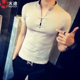 Harga Cina Gaya Pria V Neck Lengan Pendek T Shirt Abu Abu Baju Atasan Kaos Pria Kemeja Pria Oem Online