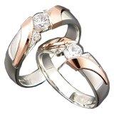 Cincin Pernikahan Seroja Usa Diamond 108 Elegant Silver Rings Cincin Pernikahan Diskon