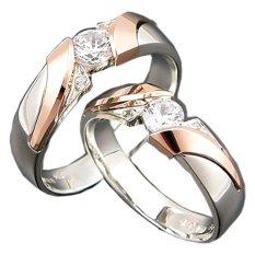 Harga Cincin Pernikahan Seroja Usa Diamond 108 Elegant Silver Rings Cincin Pernikahan