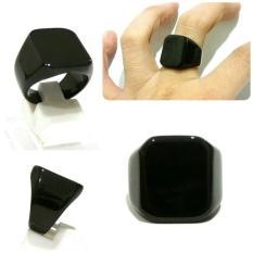 Cincin Titanium Fullblack Ring Cincin Hitam Polos - D6cd5b