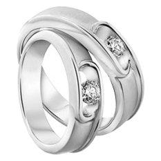 Cincin Tunangan Exclusive - USA Diamond & Lapis Emas Putih - Kode 013