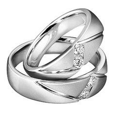 Cincin Tunangan Exclusive - USA Diamond & Lapis Emas Putih - Kode 018