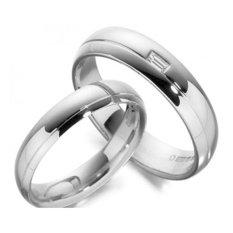 Cincin Tunangan Exclusive - USA Diamond & Lapis Emas Putih - Kode 045