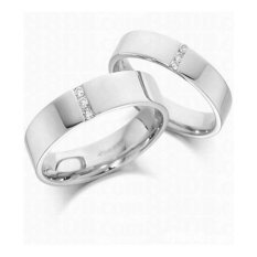 Cincin Tunangan Exclusive - USA Diamond & Lapis Emas Putih - Kode 052