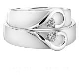 Harga Cincin Tunangan Exclusive Usa Diamond Lapis Emas Putih Kode 002 Yang Murah Dan Bagus