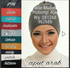 Promo Ciput Arab Kaos Pe Isi 10 Pcs Seri Warna Hijab Terbaru