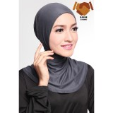 Harga Ciput Hijab Inner Antem Sleting Dark Grey Cotton Bee Baru