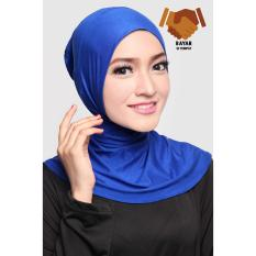 Jual Ciput Hijab Inner Antem Sleting Electric Blue Satu Set