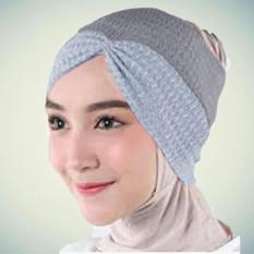 Baby Talk Club Ciput Rajut Model Bandana Serut Two Tone 2 Warna - Dalaman Hijab Jilbab Inner Hijab Inner Jilbab Ciput Anti Pusing Ciput Anti Tembem Kerpus Muslimah
