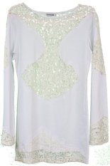 Ulasan City B Ch Lady Dress Renda Putih