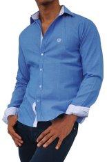 Harga City B Ch Classic Long Sleeves Shirt Slim Fit Cut Biru Klasik Yang Murah
