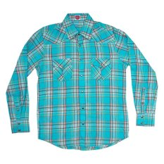 Harga City B Ch Classic Long Sleeves Shirt Stripped Square Biru Baru
