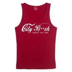 Beli City B Ch Gym Singlet Merah Seken