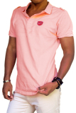 City B Ch Men Polo Shirt Coral Pink Murah