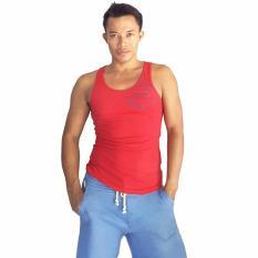 City B Ch Men Singlet Gym Casual Star Merah Di Bali