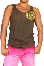 Harga City B Ch Men Singlet Star Gym Cokelat Original