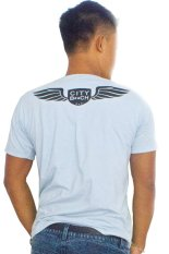 Pusat Jual Beli City B Ch Men T Shirt Round Neck With Back Design Biru Muda Bali