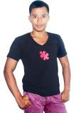 Toko City B Ch Men V Neck T Shirt Puzzle Hitam Bali