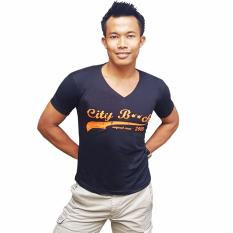 Promo City B Ch V Neck T Shirt Super Beach Style Hitam