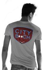 Beli City B Ch V Neck Tshirt Abu Abu Pake Kartu Kredit