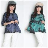 Beli Cj Collection Atasan Batik Blouse Kemeja Wanta Jumbo Shirt Aninda Biru Kemeja Asli