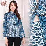Promo Cj Collection Atasan Blouse Kemeja Abaya Batik Wanita Jumbo Shirt Nayla M Xl Batik