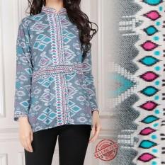 Cj collection Atasan blouse kemeja abaya kebaya batik wanita jumbo shirt Dinie M - XL