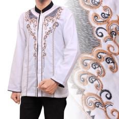Cj Collection Baju koko atasan kemeja batik pria jumbo shirt Azka