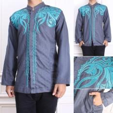 Cj Collection Baju koko atasan kemeja batik pria jumbo shirt Indra