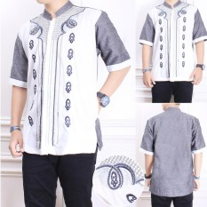 Cj Collection Baju koko atasan kemeja batik pria jumbo shirt Noval