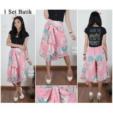 Jual Cj Collection Celana Batik Kulot Pendek 7Per8 Wanita Jumbo Hotpant Short Pant Salsa Celana Kulot