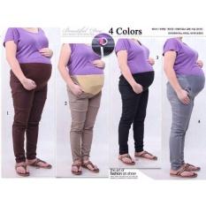 Cj collection Celana hamil jumbo panjang wanita jumbo long pant Nanny - 03 hitam