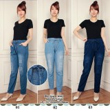 Jual Cj Collection Celana Jeans Joger Panjang Wanita Jumbo Long Pant Isabella 02 Jogger Asli