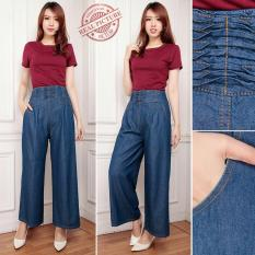 Penawaran Istimewa Cj Collection Celana Jeans Kulot Panjang Wanita Jumbo Febriana Terbaru