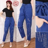 Review Cj Collection Celana Jeans Panjang Wanita Jumbo Long Pant Dayira Celana Di Banten