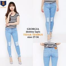 Harga Cj Collection Celana Jeans Panjang Wanita Jumbo Long Pant Garnisa 31 34 Asli