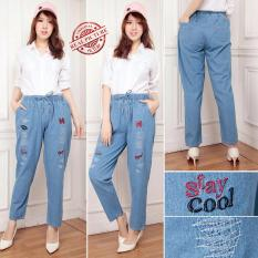 Jual Beli Cj Collection Celana Jeans Panjang Wanita Jumbo Long Pant Stacy
