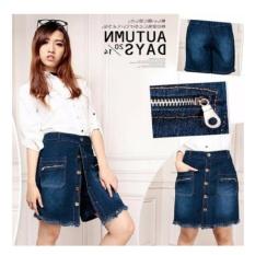 Cj collection Celana jeans pendek hotpant wanita jumbo short pant Meila