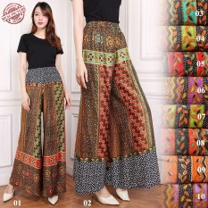 Cj collection Celana kulot batik panjang wanita jumbo long pants .