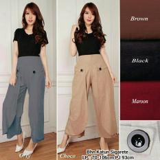 Beli Cj Collection Celana Kulot Panjang Wanita Jumbo Long Pant Brigina Black Baru