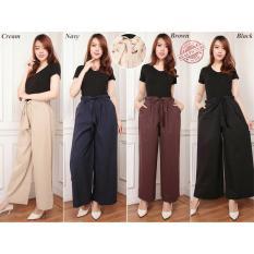 Harga Cj Collection Celana Kulot Panjang Wanita Jumbo Long Pant Trinina Brown Banten