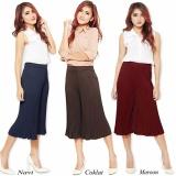 Spesifikasi Cj Collection Celana Kulot Pendek Plisket Wanta Jumbo Short Pant Nazmu Maroon Bagus