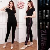 Jual Cj Collection Celana Legging Sport Wanita Jumbo Long Pant Celana Senam Narnie 01 Branded Murah