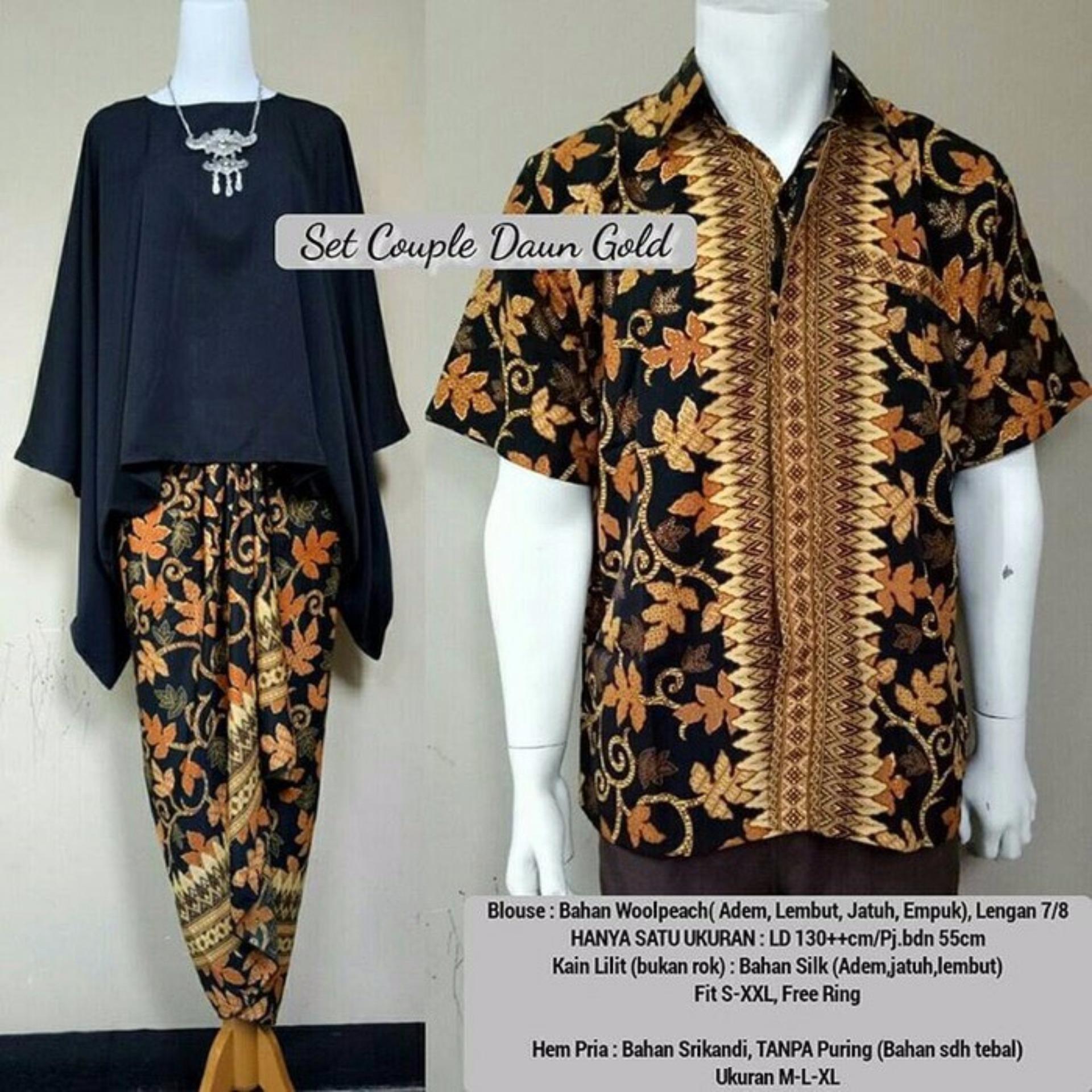Stelan Atasan Blouse Black Batwing Dan Rok Lilit Batik Hitam Sartika Cj Collection Couple 3in1 Long Skirt Wanita