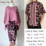 Promo Cj Collection Couple Batik 3In1 Stelan Atasan Blouse Batwing Dan Rok Lilit Batik Long Skirt Wanita Jumbo Dan Atasan Kemeja Pria Jumbo Shirt Liona Dusty Pink Di Banten
