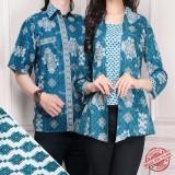 Jual Cj Collection Couple Batik Atasan Blouse Kemeja Abaya Kebaya Wanita Dan Atasan Kemeja Pria Shirt Marisa Couple Murah