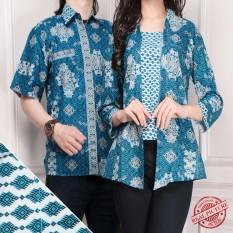 Harga Cj Collection Couple Batik Atasan Blouse Kemeja Abaya Kebaya Wanita Dan Atasan Kemeja Pria Shirt Marisa Couple Terbaik