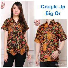 Cj collection Couple batik dress maxi pendek atasan blouse long tunik wanita mini dress dan atasan kemeja shirt pria shirt Austina